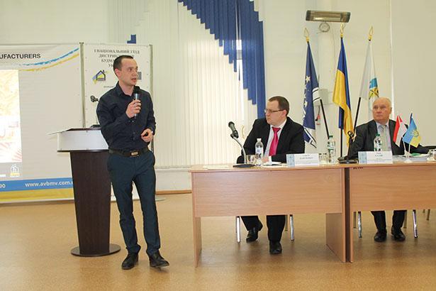 Генеральный директор, Дмитрий Ковганич на I-м Всеукраинском съезде дистрибьюторов и производителей строительных материалов Украины