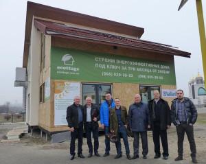 Президент Всеукраинского союза производителей стройматериалов, Иван Салий посетил выставочный дом Экотедж
